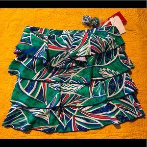 Ceeb Blue Green Swimsuit Top, Size 10